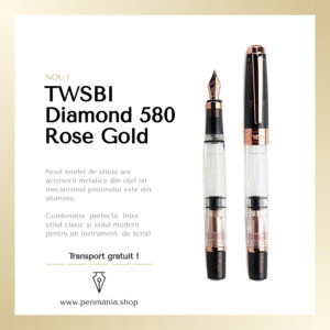 Stilou Twsbi Diamond 580 Rose Gold Imagine Produs