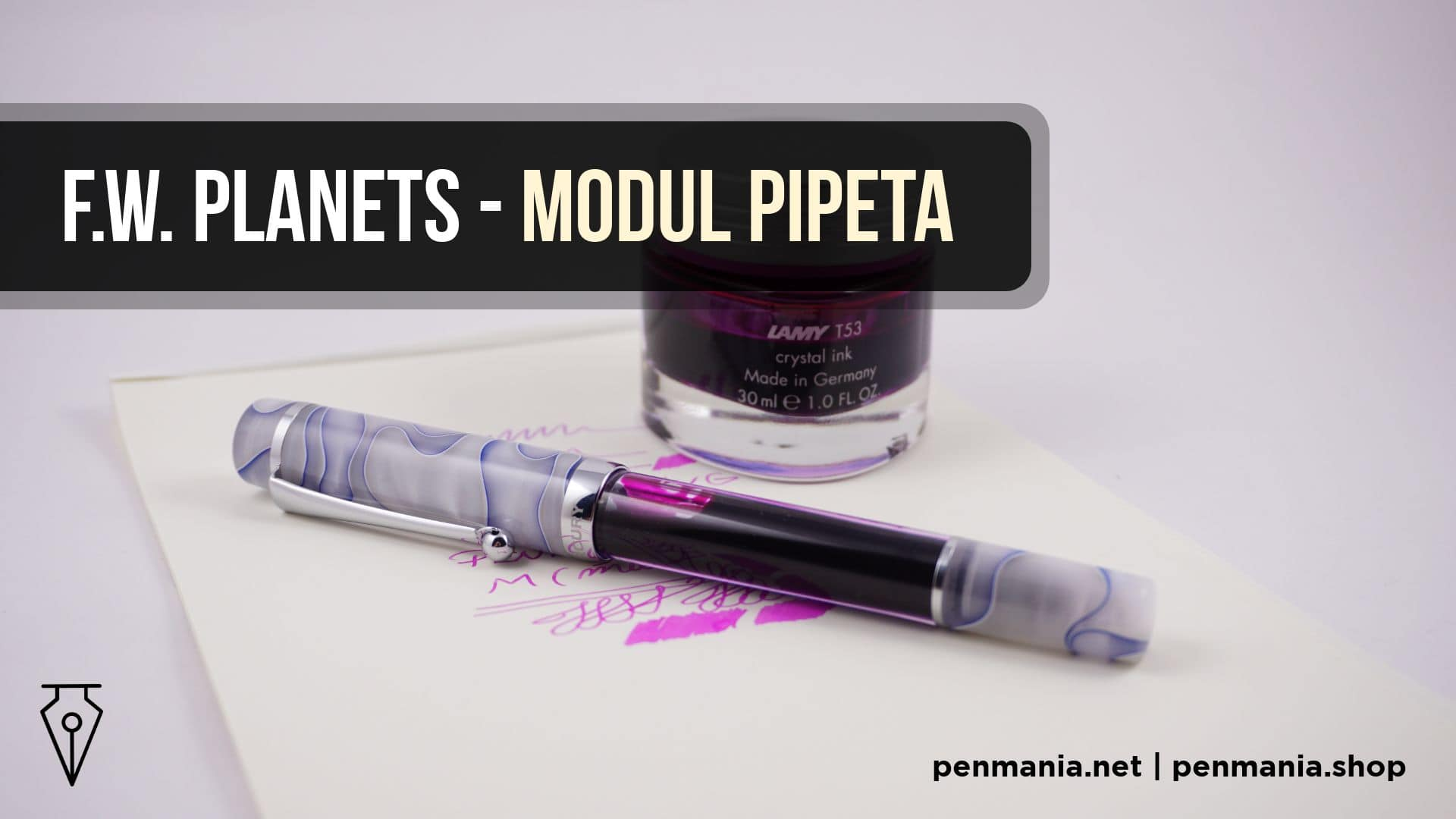 Coperta Video Modul Pipeta Stilou Fine Writing Planets Penmania Shop