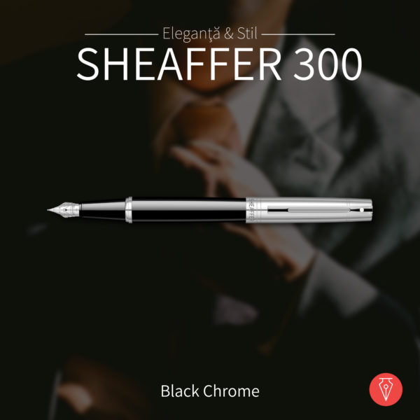 Stilou Sheaffer 300 Chrome Black Penmania Shop