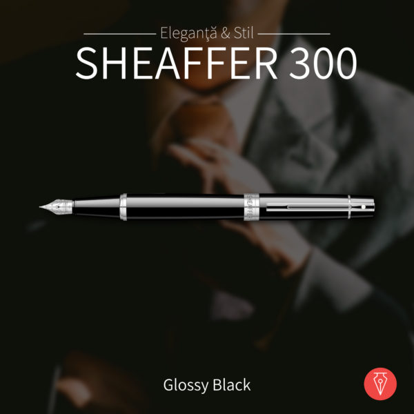 Stilou Sheaffer 300 Glossy Black Penmania Shop