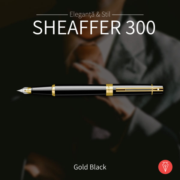Stilou Sheaffer 300 Gold Black Penmania Shop