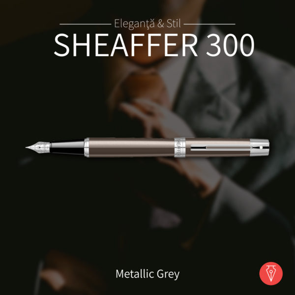 Stilou Sheaffer 300 Metallic Grey Penmania Shop