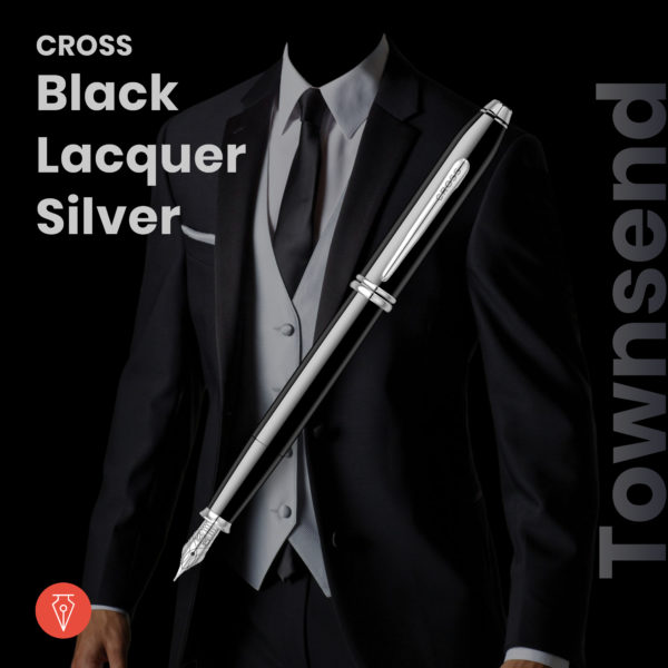Stilou Cross Townsend Black Lacquer Silver Penmania Shop