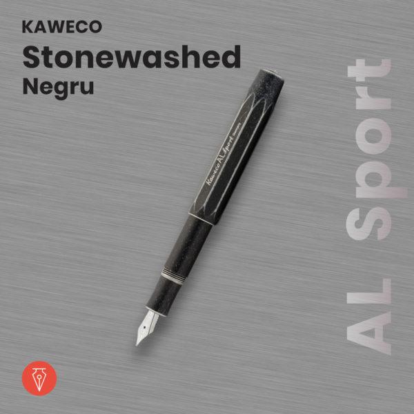 Stilou Kaweco Al Sport Stonewashed Negru Penmania Shop