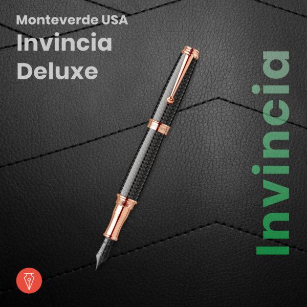 Stilou Monteverde Invincia Deluxe Carbon Imagine Produs Penmania Shop