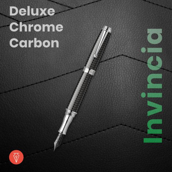Stilou Monteverde Invincia Deluxe Chrome Carbon Penmania Shop