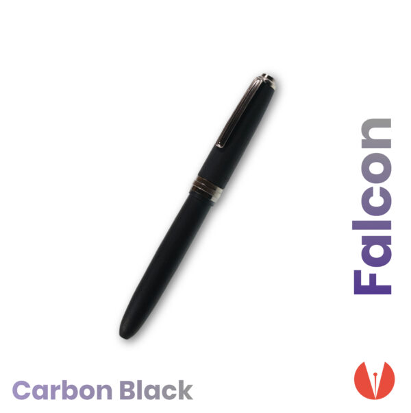 stilou click falcon carbon black detaliu 1 penmania shop
