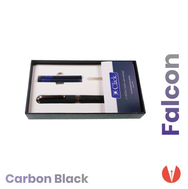 stilou click falcon carbon black detaliu 2 penmania shop