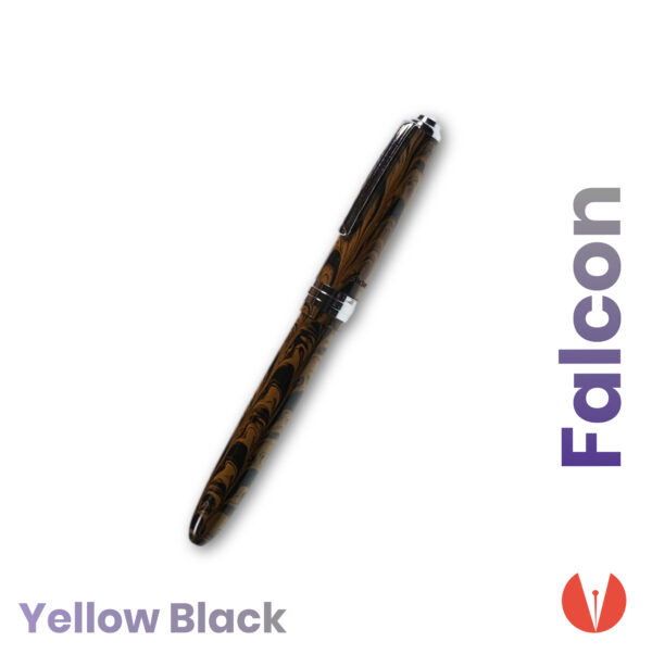 stilou click falcon yellow black detaliu 1 penmania shop