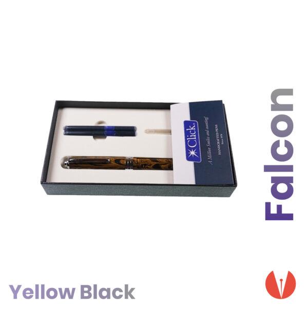 stilou click falcon yellow black detaliu 2 penmania shop