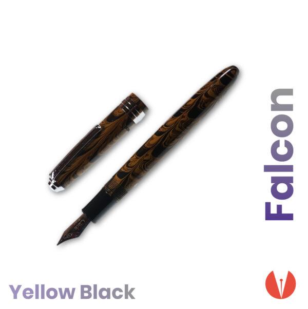stilou click falcon yellow black detaliu 3 penmania shop